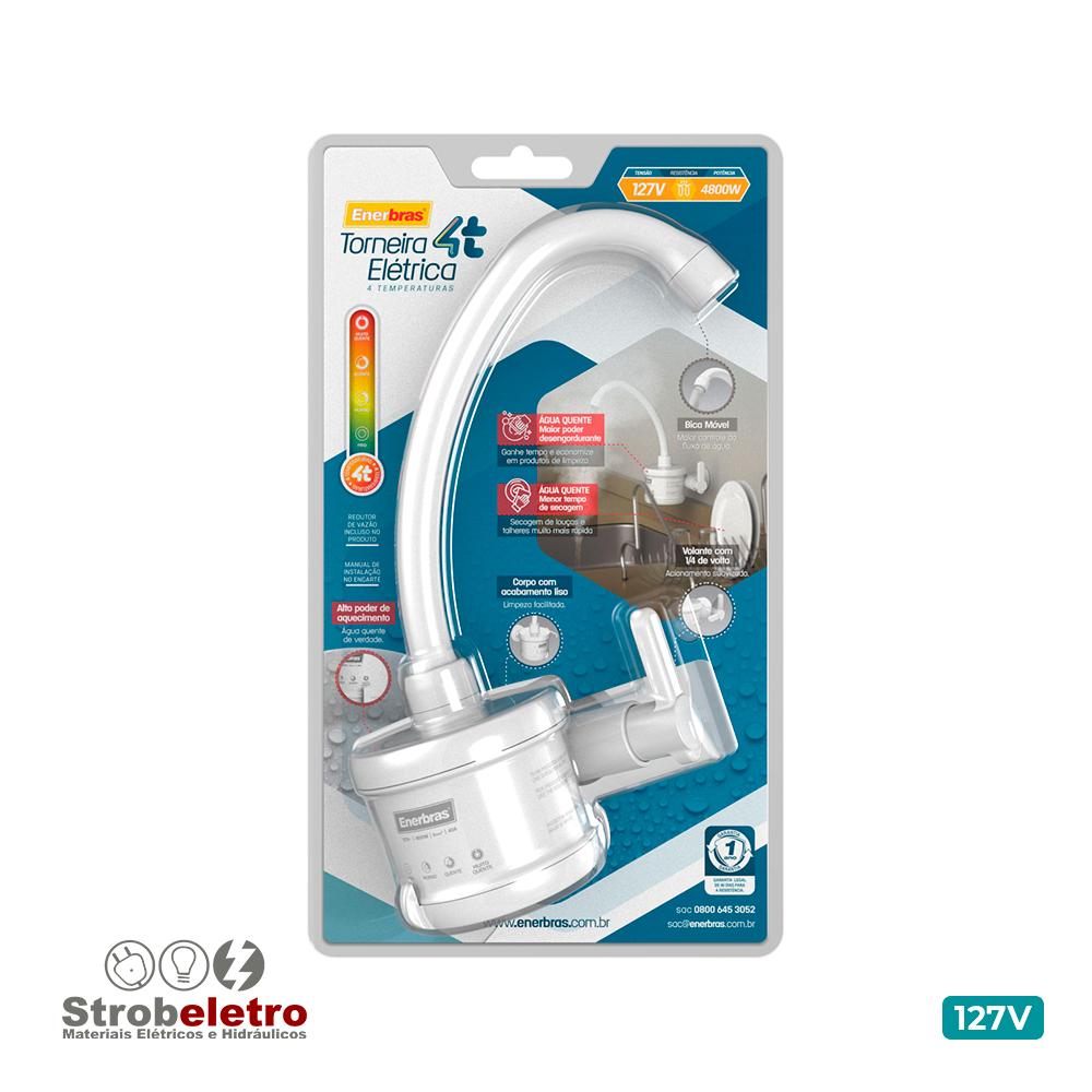 ENERBRAS TORNEIRA ELETRICA PLUS 4T 4800W 127V BRANCA